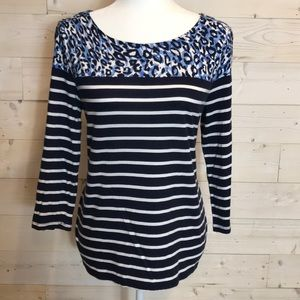 3/4 Sleeve Navy Tee by Talbots